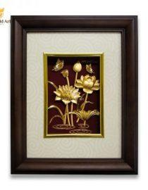 Tranh Hoa Sen Dát Vàng 22x27cm 600x600